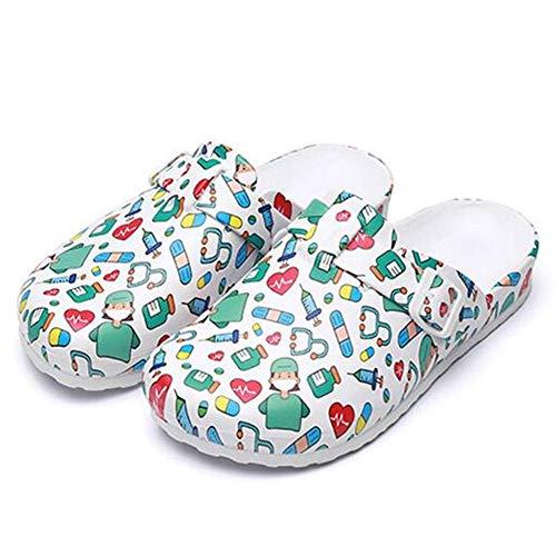 Lichll Doux Été Maison Chaussons Bout Ouvert Chaussons Bain, pour Léger Pantoufle Chaussures Antidérapant Une Baignoire Douche Sandales pour Femmes/Hommes,2,37