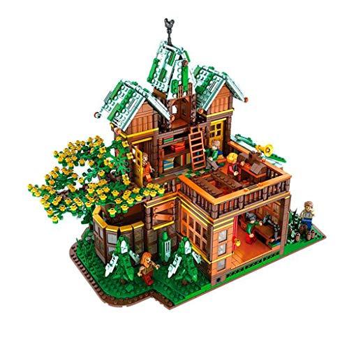 SLL Juguetes Calle Moc Navidad Vista de Invierno Tiempo Tree House Villa Alta Dificultad for Adultos Montado Bloque de construcción de Juguete de Modelo