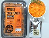 Maize Corn Flakes with homemade chaat Masala, Ready to Fry Healthy poha Snack, 225 Grams