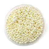 100-1000 Unids/bolsa Perlas de Perlas de Imitación para Pulsera Collar Fabricación de Joyas Accesorios de Decoración para el Hogar (4 6 8 10 mm), Marfil, 8 mm aproximadamente 150 Unids