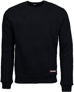 Dsquared2 Felpa Nera Sweater Girocollo Black Man
