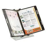 Tarifold Es 434157 - Expositor de sobremesa A4 para catálogos Sterifold con 10 fundas A4 PVC Antibacterial (Destruye el 99,9% de gérmenes y bacterias)- marcos color negro