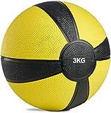POWRX - Balón Medicinal 3 kg + PDF Workout (Amarillo)