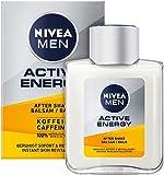 NIVEA MEN Active Energy After Shave Balsam (100 ml), revitalisierendes After Shave, Hautpflege nach der Rasur mit Koffein aus 100% natürlicher Quelle