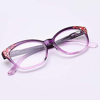 Leesbril Mode Ultralight Bril, Rond Voor Vrouwen, Anti-vermoeidheid Hars Bril, Rood, Blauw, Paars