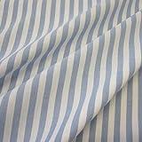 Stoff Meterware Bauernstreifen hellblau weiß Streifen
