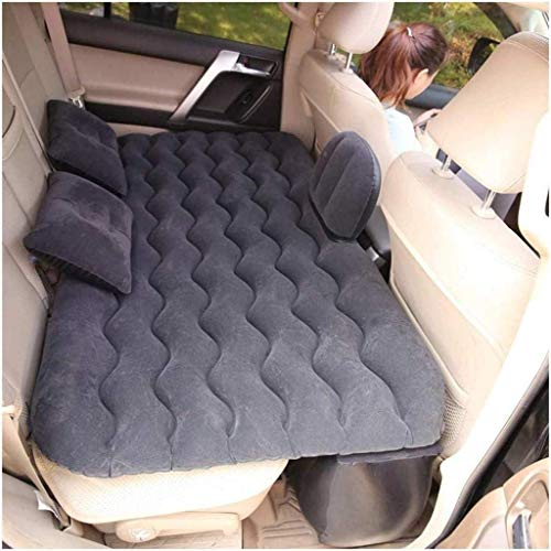 JIAMING Travel bed Travel Bed Car Air Inflatable Mattress Travel Bed Universal For Auto Back Seat Sofa Pillow Outdoor Camping Mat Cushion 5-19 (Color : Blue) (Color : Black