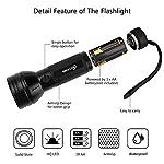 ESCO LITE UV Black Light, 51 395 nM Ultraviolet Blacklight Detector for Dog Urine, Pet Stains and Bed Bug, Led Flashlight 8