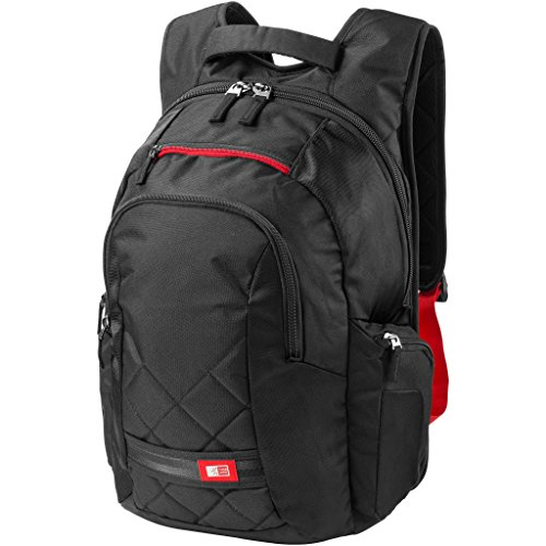 Case Logic 16in Laptop Backpack (15.7 x 7.7 x 18.5 inches) (Solid Black)