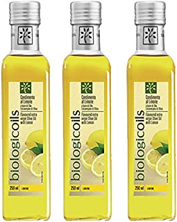 biologicoils有機エキストラヴァージンオリーブオイル 229g (レモン 3本セット)
