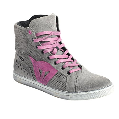 Dainese-STREET BIKER AIR LADY Zapatos, Gris/ORCHID, Talla 38