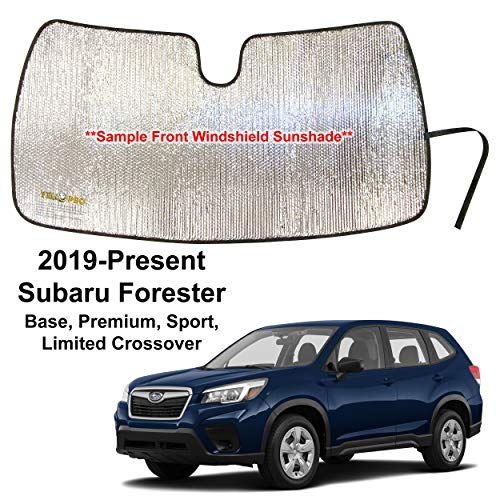 YelloPro Custom Fit Reflective Front Windshield Sunshade for 2019 2020 2021 Subaru Forester Crossover, Base, Premium, Sport, Limited, UV Reflector Sun Protection Accessories