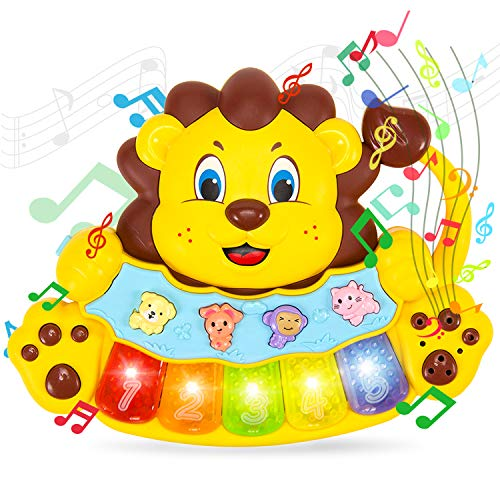 STEAM Life Educational Lion Toy - Baby Musical Toy - Light Up Toy Piano - Crib Music Toy for Babies and Toddlers - Toy Keyboard has 5 Numbered Keys - Perfect Toys for 2 Year Old Boys and Girls