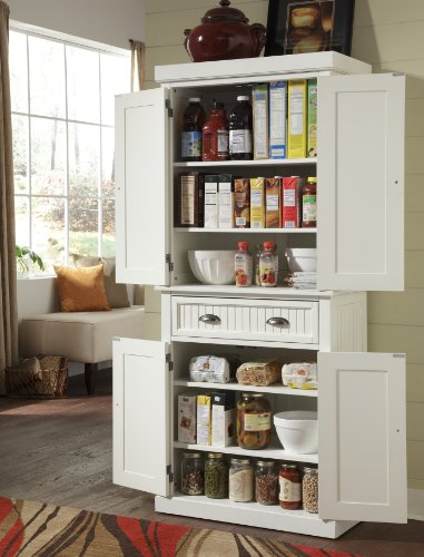 Nantucket White Pantry by Home Styles