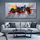 Cuadro artístico de lienzo de gran tamaño de un solo panel, decoración moderna del hogar, pintura al óleo impresa a mano, impresiones de carteles personalizados de Dropship 60x120 CM (sin marco)