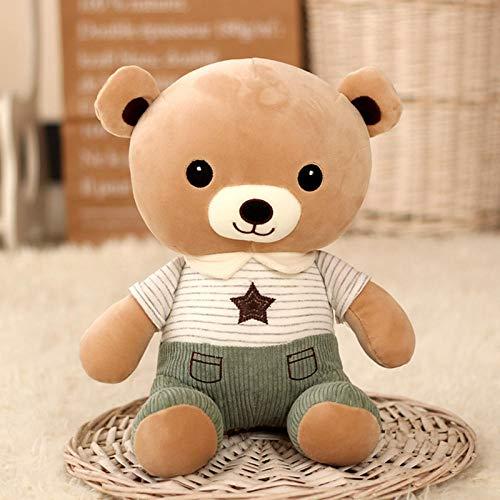 yfkgh Poupée Ourson, Petit Jouet en Peluche, poupée Ourson, Enfant poupée, Fille de Cadeau@Vert_Assis 28 cm de Haut