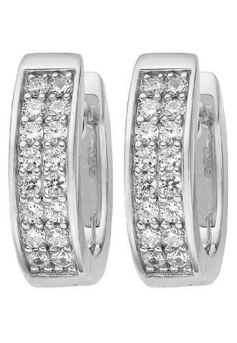 JETTE Silver Damen-Creolen 925er Silber 32 Zirkonia One Size 86734877