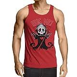 lepni.me Camisetas de Tirantes para Hombre La Muerte se Acerca! Esqueleto de Halloween Ropa El Mal...