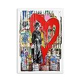 Banksy Kunstdruck Auf Leinwand,Zusammenfassung Chaplin