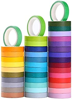 40 Rolls Washi Tape Set, Decorative Masking DIY Tapes for Children and Gifts Warpping (Mix)