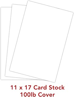 White Card Stock Paper - 11x17 - Heavyweight 100lb Cover (270gsm) - 100 Pk by Superfine Printing Inc.