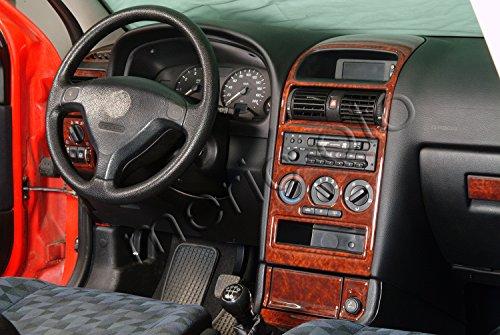 MERIC Cockpit Dekor (CD-WU00427) Exclusive 3D Ausführung, 16 Teile, Farbe: Wurzelholz
