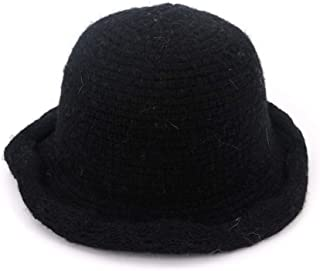 MZHHAOAN Knit Hat Autumn and Winter Thick Warm Korean Version of The Basin Cap Fisherman Cap Foldable Cap,Black,One Size