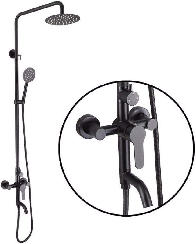 CJSHV Dusche 304 edelsthlen Schwarze Shower dusche kalt und warm duschen wurde aufgehoben