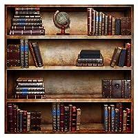 MIYU 古い木製本棚ブックの図書館研究子供のポートレート写真の背景の写真の背景 (Color : 01617, Size : Polyester 120x120cm)