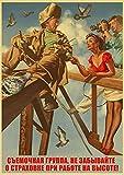 Kemeinuo Deko Wand Bild Stalin UDSSR CCCP Retro Poster Gut
