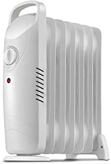 Mini Radiador De Calentador De Aceite - Calentadores Portátiles Compactos para El Hogar Y La Oficina, Protección contra Sobrecalentamiento 700W Blanco