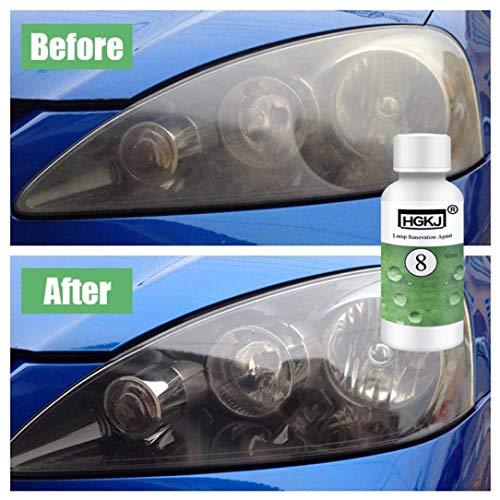 LtrottedJ HGKJ-8 Car Lens Restoration Kit Headlight Brightening Headlight Repair,Hgkj-8 - Car Refurbisher (A)