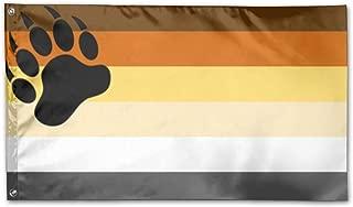 MANBABAIHUO Gay Bear Pride Flag Flag Garden Flag Garden Decor Flags 3x5