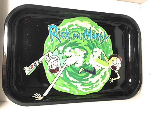 Rolling Tray Metal Durable Art Scroll Tray (Green)