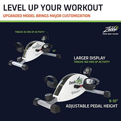 DeskCycle 2 Under Desk Bike Pedal Exerciser with Adjustable Leg - Mini Exercise Bike Desk Cycle for Home Workout & Office Exercise Equipment