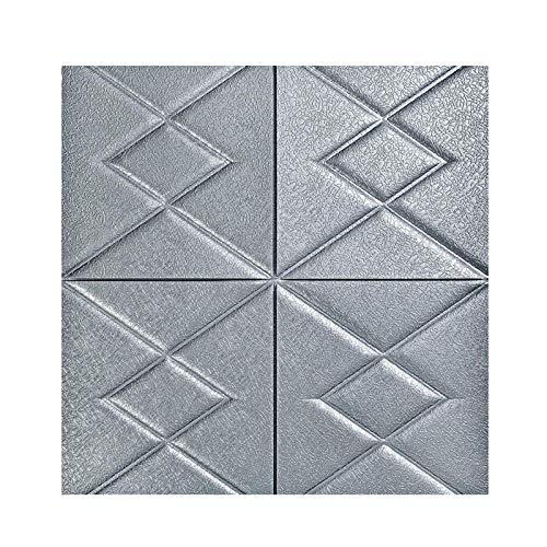 KUNYI 3D-Self-Adhesive Wandpaneele Faux-Schaum Bricks Tapete for TV Wand/Sofa Hintergrund Wand-Dekor (Color : Gray, Size : 10 Pack)