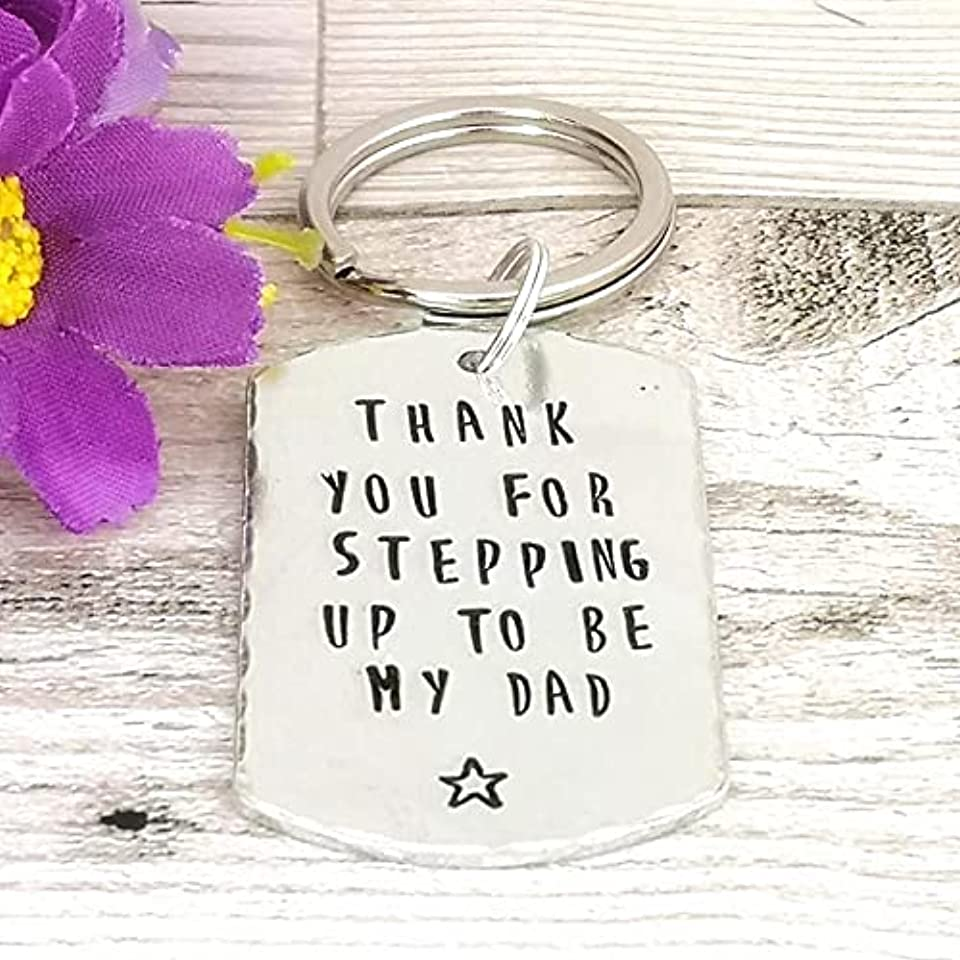 Thank You For Stepping Up To Be My Dad Keyring | Gift For Step Dad | Father's Day Gift For Step Parent | Foster Father | Step Dad Birthday