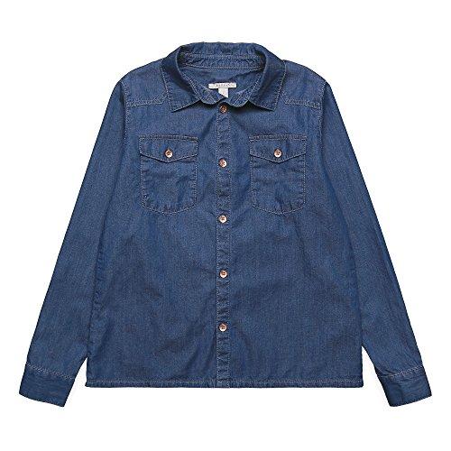 ESPRIT KIDS Mädchen RK12015 Bluse, Blau (Stoned Denim 475), 164 (Herstellergröße: L)