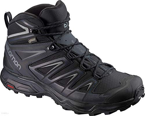 Salomon Men's X Ultra 3 Mid GTX Hiking Boots, Black/India Ink/Monument, 12 Wide