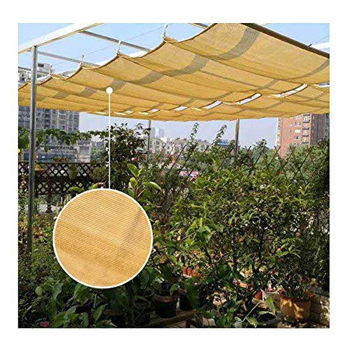 GDMING 2020 Version Retractable Roof Shade Wave Canopy Replacement Pergola Cover Sunscreen Breathable Screen For Porch Restaurant Cafe Outdoor Awning Polyester, 31 Sizes