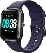 YONMIG Reloj Inteligente Mujer y Hombre, Smartwatch Impermeable IP68 Pulsera Actividad Deportivo con Monitor de Sueño, Pulsómetro, Pantalla Táctil Completa Reloj Fitness para Android y iOS (Púrpura)
