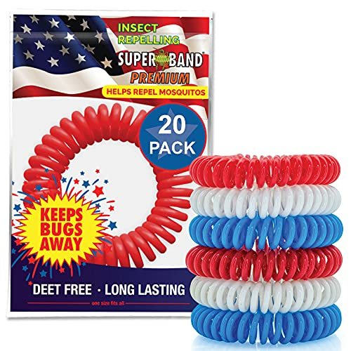 Product Image of the Patriotic SUPERBAND Premiums - Pack of 20 Individually Wrapped All Natural...