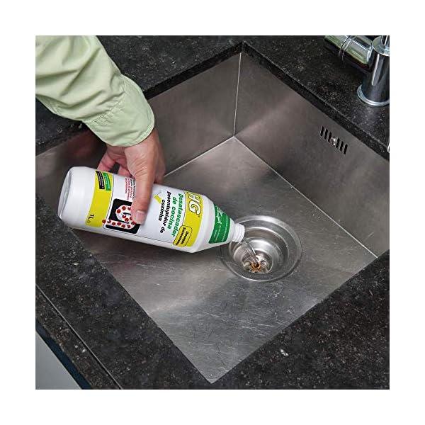HG 481100130 1 L – Un desatascador de tuberías de Cocina Natural y Seguro para Todos los desagües y Las fosas sépticas…