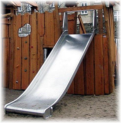 Edelstahl Anbaurutsche 100cm breit, Podesthöhe 1.75-2m - öffentlich