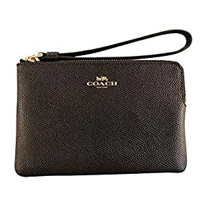 Fashion Shopping COACH Cross Grain Leather Corner Zip