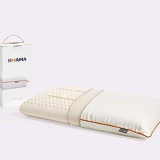 KHAMA | Almohada Bio | Firmeza Suave 1/4 | Almohada de látex orgánico | Ni una Vuelta más