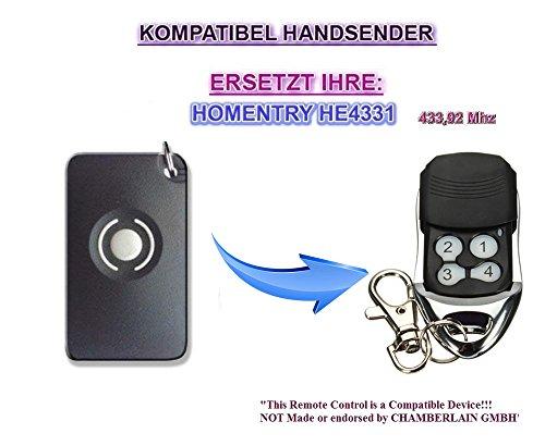 HOMENTRY Garagentor Fernbedienung Handsender Geeignet für HE4331 HE60, HE60R, HE60N, Kompatibel Universal Sender Ersatz 433.92 mhz