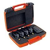 FOX Micron Mr+ 4 Rod Blue – Jeu de détecteurs de Touche + récepteur pour pêche à la Carpe, détecteur de Touche pour pêche à la Carpe