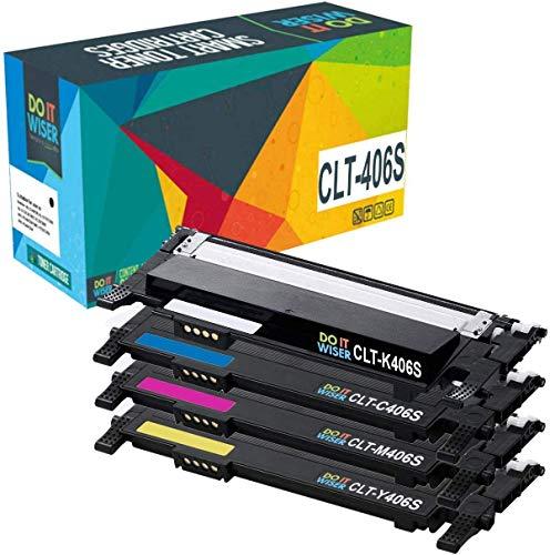Cartuccia toner Do it wiser compatibile in sostituzione di Samsung Xpress CLP-365, C410W, C460FW, P406C (Confezione da 4)
