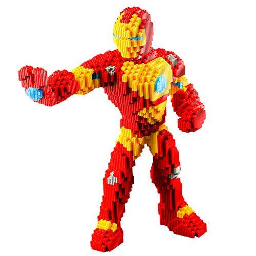 Bloques De Construcción para Niños, Hero Iron Man Nano Micro Bloques Rompecabezas 3D Juguetes De Bricolaje Modelo De Ladrillos Juguetes (5038 Piezas)